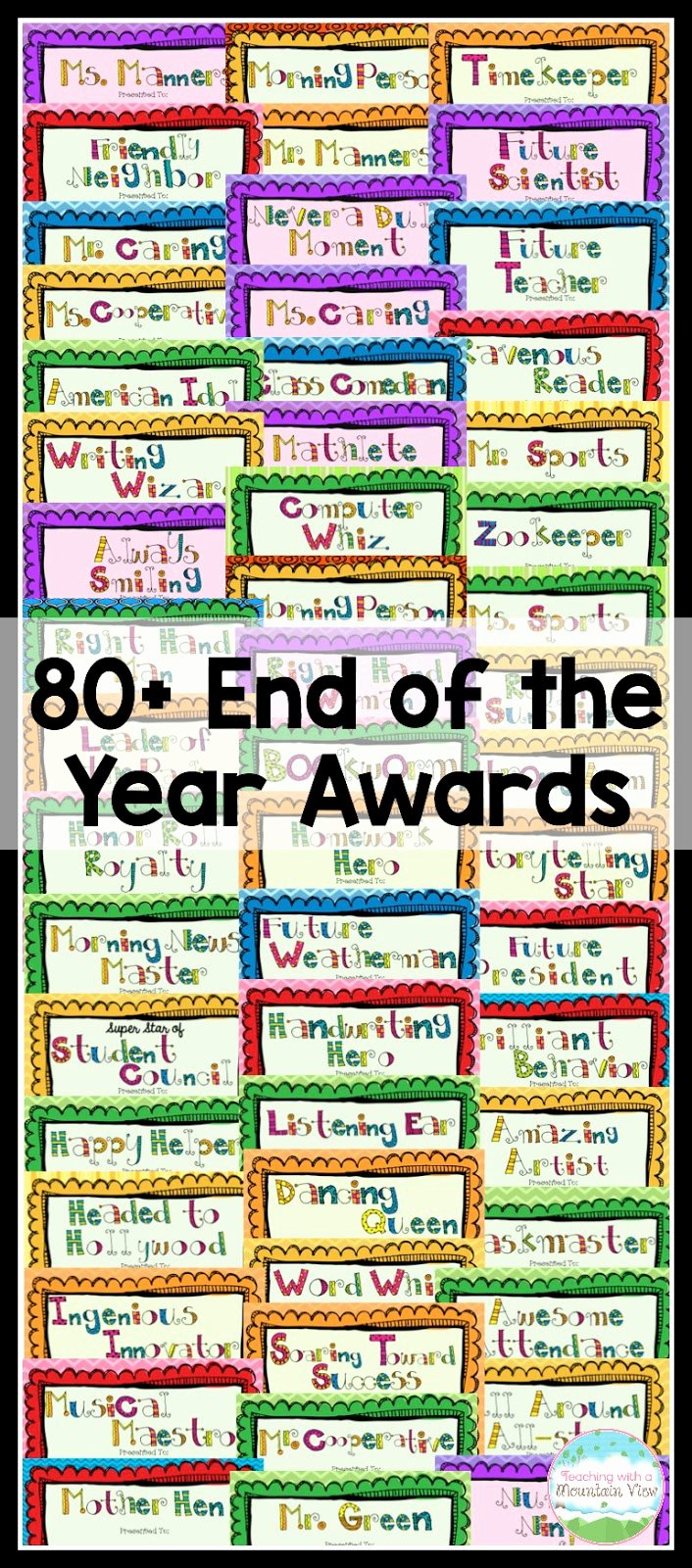 End Of the Year Awards for Students Funny Inspirational Teaching with A Mountain View End Of the Year Activities