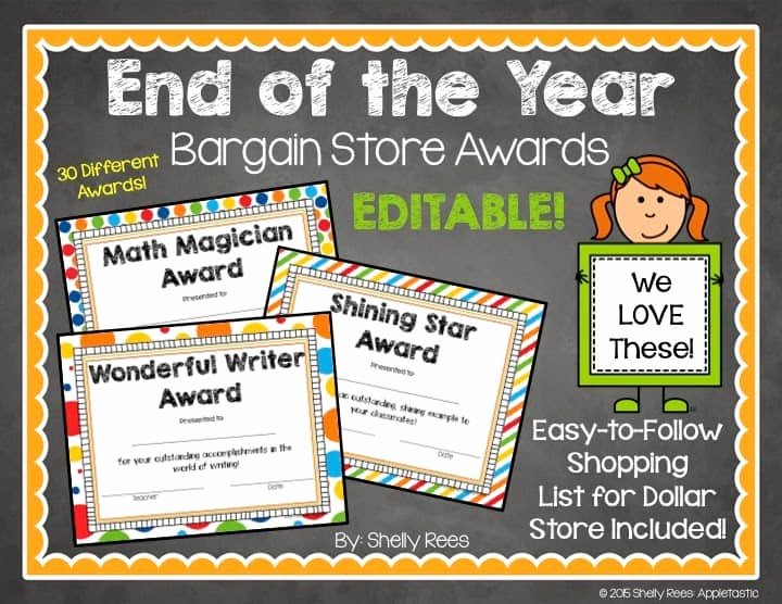 End Of the Year Certificates Inspirational End Of the Year Award Certificates Dollar Store Style