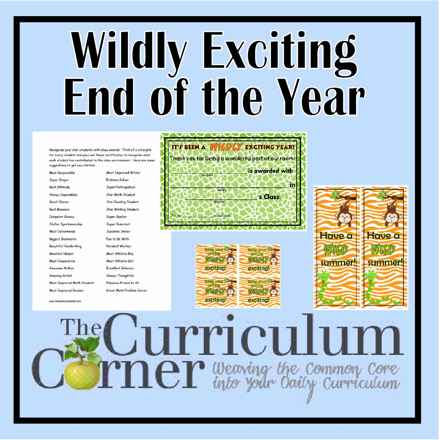 End Of the Year Certificates Unique A Wildly Exciting Celebration the Curriculum Corner 123