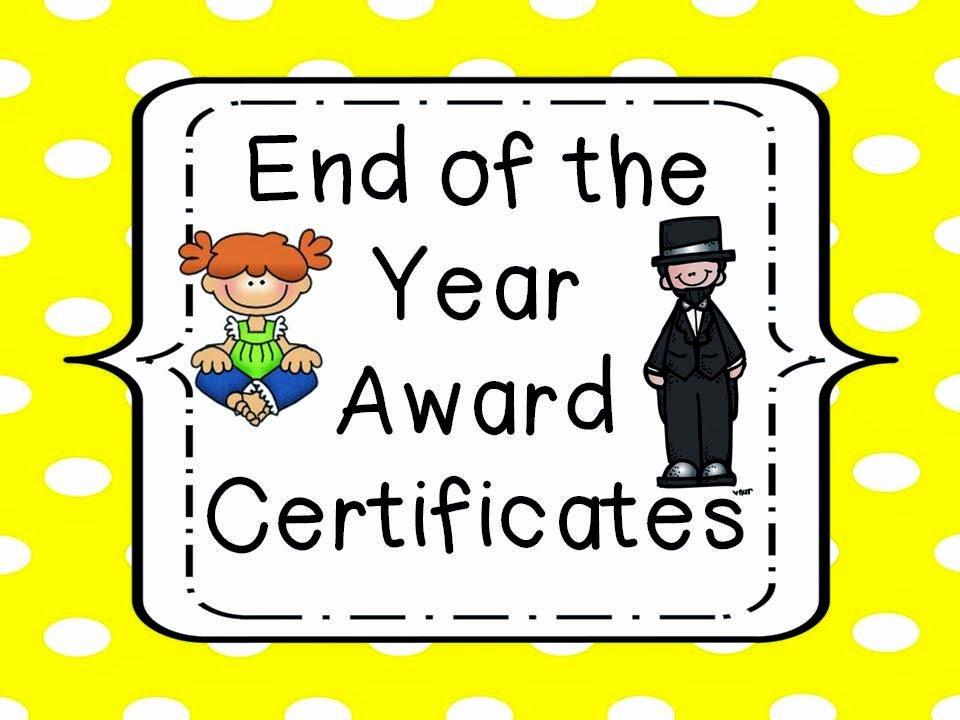 End Of Year Awards Certificates Elegant Lovely Literacy & More End Of the Year Award Certificates