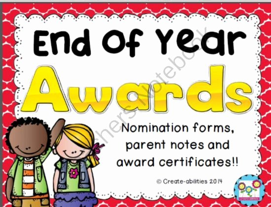 End Of Year Awards Certificates Lovely End Of Year Award Certificates Nomination forms Parent