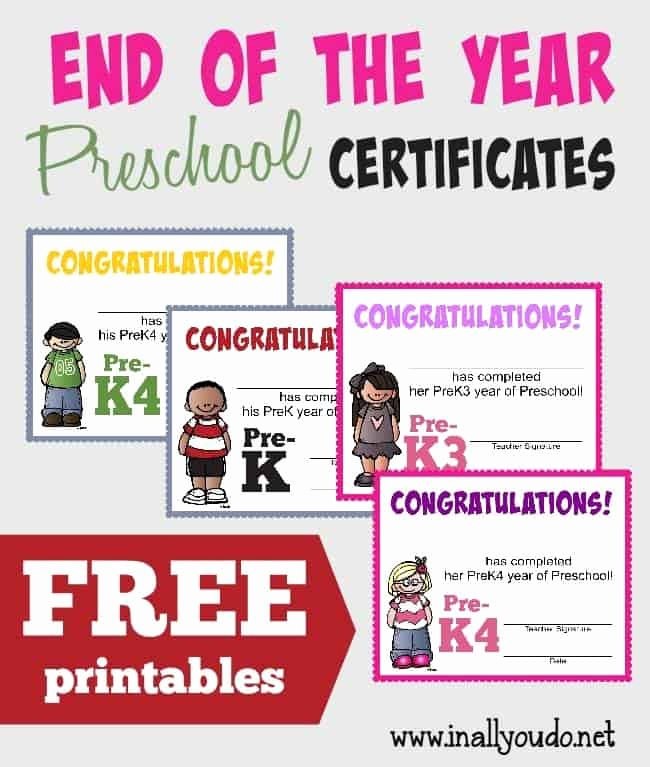 End Of Year Certificate Lovely Free End Of the Preschool Year Certificates Life Of A