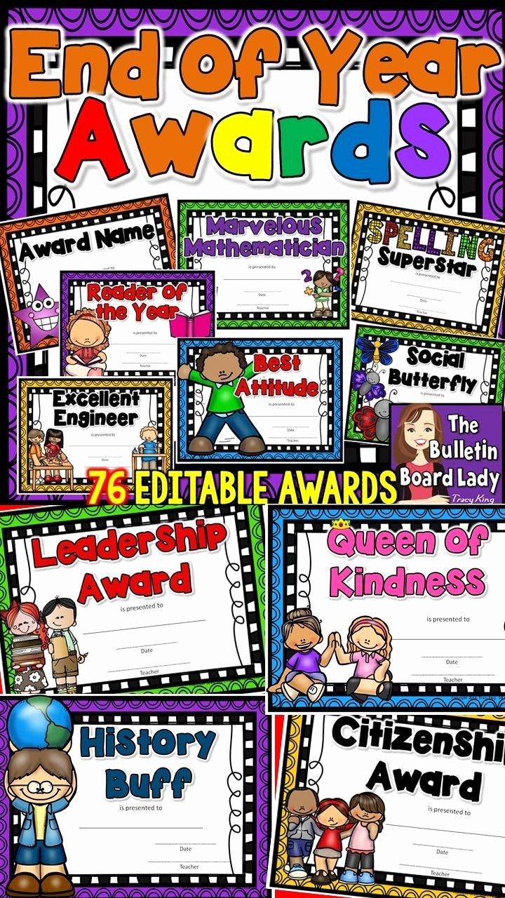 End Of Year Certificate Luxury 25 Best Kids Awards Ideas On Pinterest