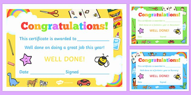 End Of Year Certificate New Eyfs End Of Year Certificates