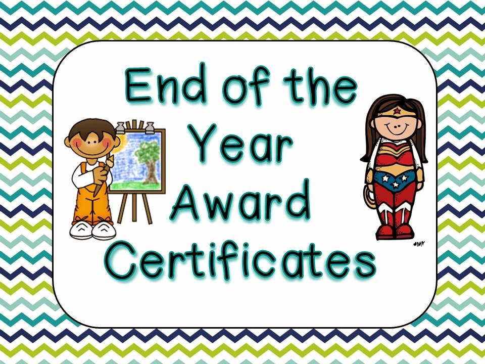 End Of Year Certificates Awesome Lovely Literacy & More End Of the Year Award Certificates