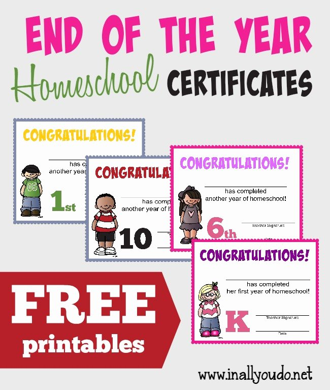 End Of Year Certificates Beautiful End Of the Homeschool Year Certificates Free Printables
