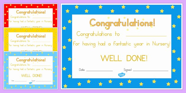End Of Year Certificates Elegant Free Editable End Year Award Certificates Awards