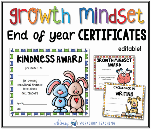 End Of Year Certificates for Students Templates Beautiful Simple End Year Ideas Whimsy Workshop Teaching