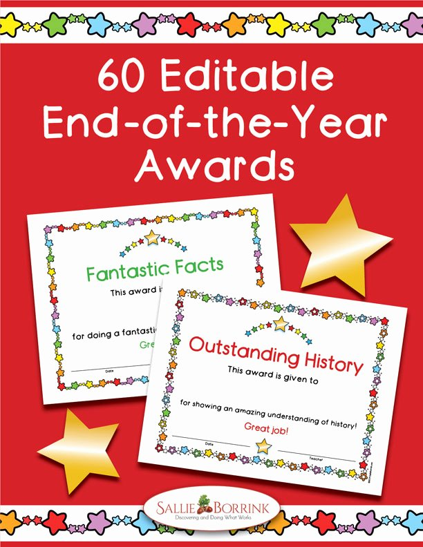 End Of Year Certificates for Students Templates Unique 60 End Of Year Awards Editable Certificates Color A