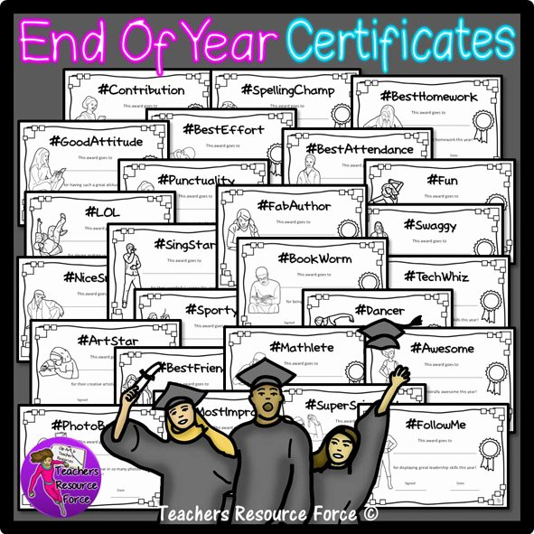 End Of Year Certificates Luxury End Of Year Certificates for Teens Hashtagstyle