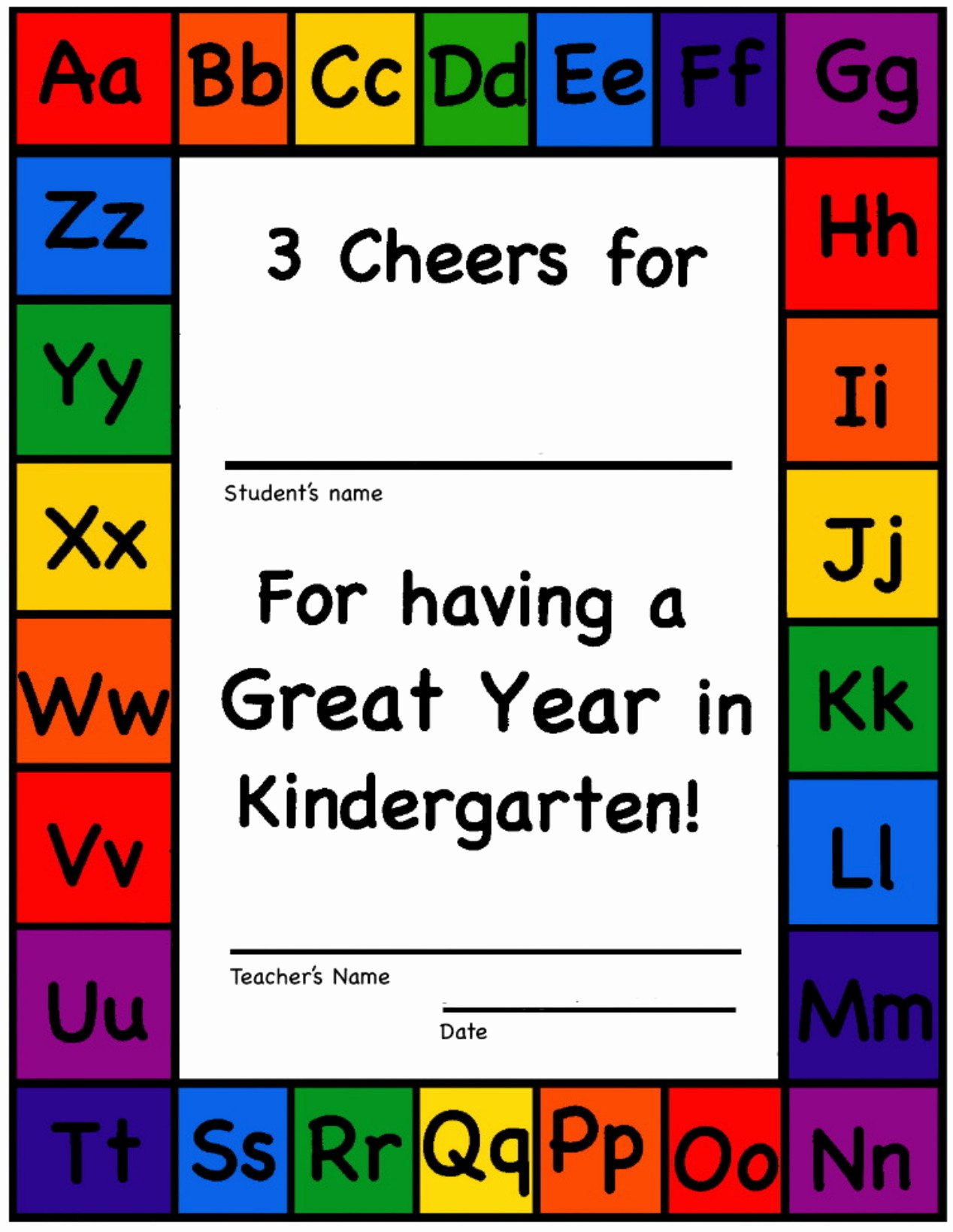 End Of Year Certificates New Kindergarten and Tk End Of the Year Certificates