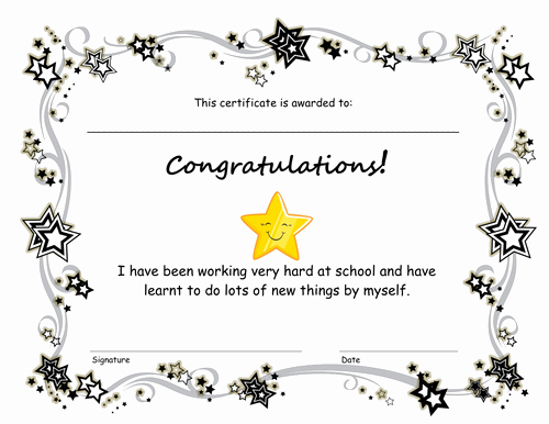 End Use Certificate Template Elegant End Of Term Congratulations Certificate by Pinguina81