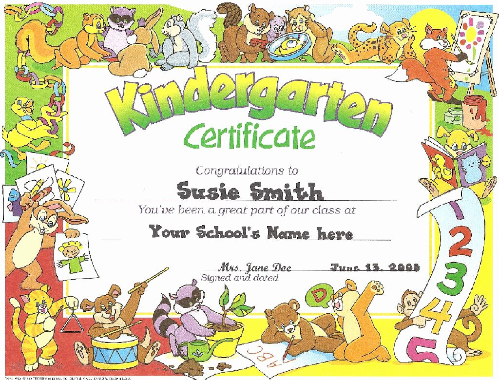 End Use Certificate Template Inspirational Kindergarten Certificates End Year