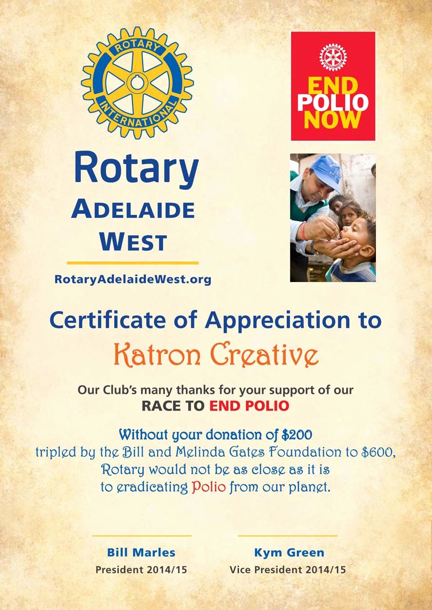 End Use Certificate Template Luxury Eradicating Polio From Our Planet Rotary Club Of Noosa