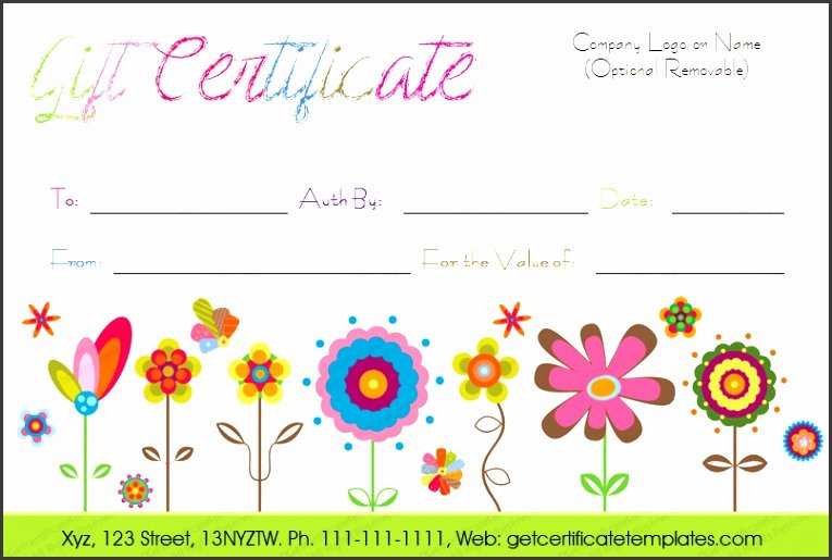 End Use Certificate Template New 7 Free Gift Certificates Templates Download