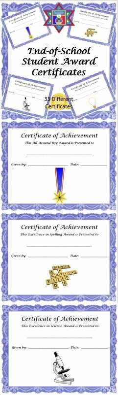 End User Certificate Template Fresh 58 Best Images About Award Certificates On Pinterest