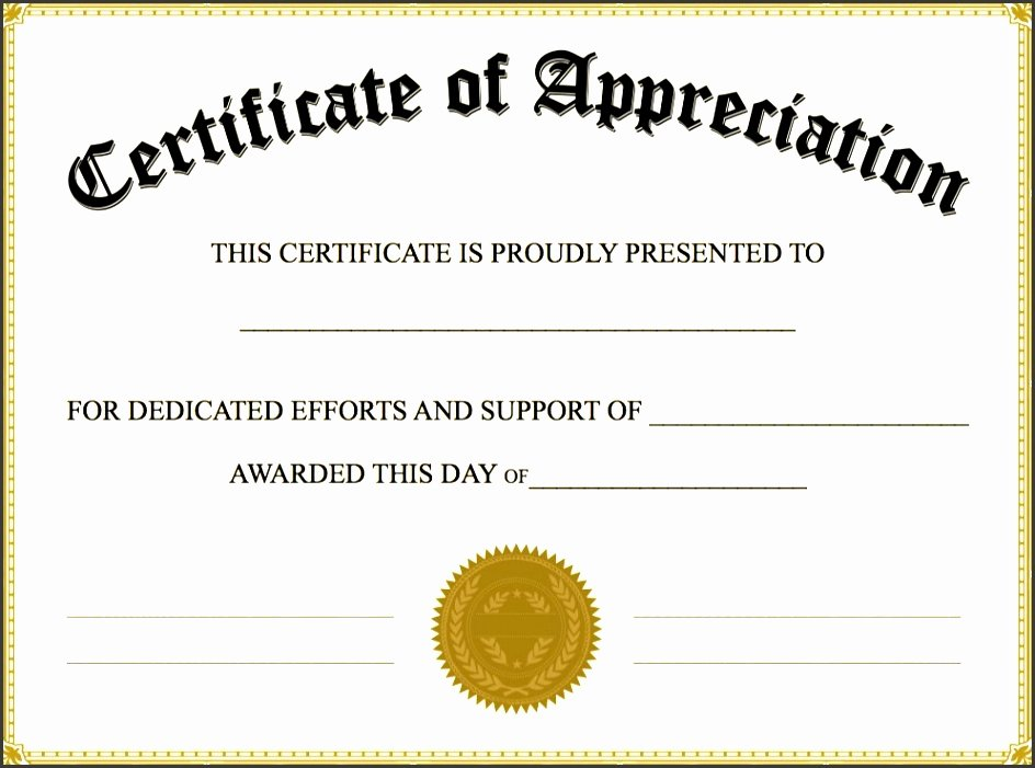 End User Certificate Template Fresh 8 Easy to Use Certificate Appreciation Template