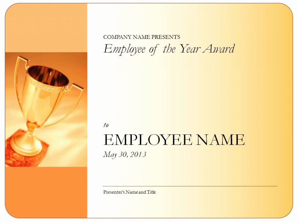 End User Certificate Template Fresh Employee Of the Year Certificate