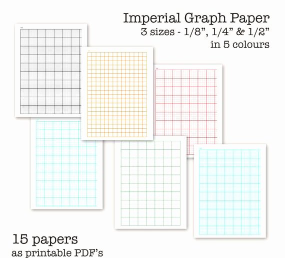 Engineering Paper Pdf Luxury 15 Imperial Measure Graph Papers Digital Graph Paper Pdf