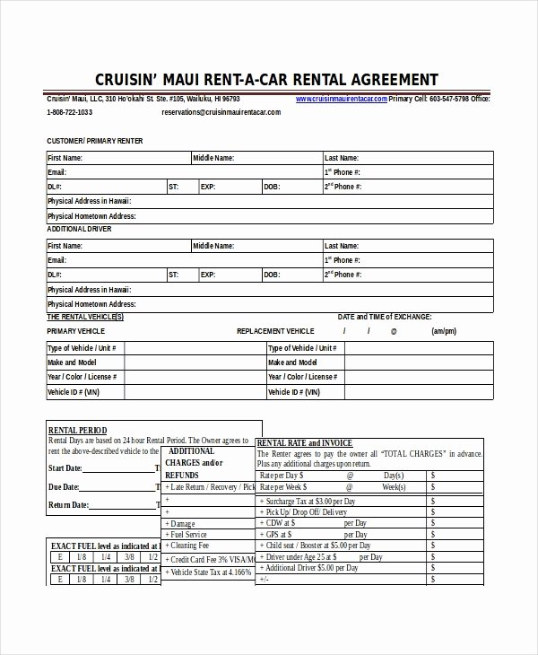 Enterprise Rental Agreement Beautiful 18 Car Rental Agreement Templates Free Word Pdf Apple