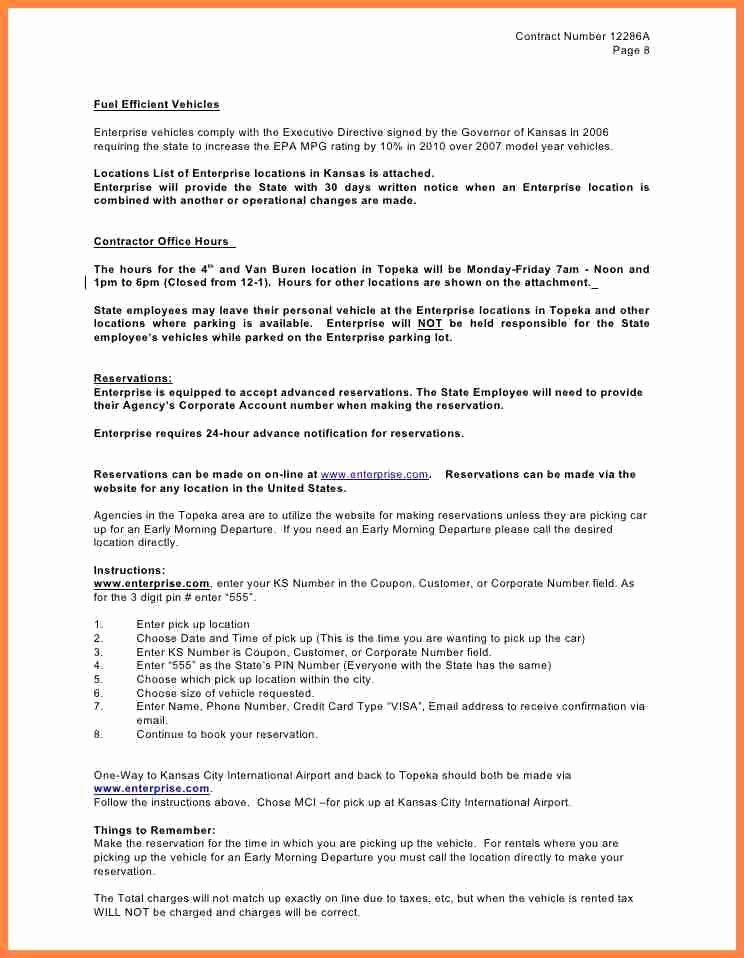 Enterprise Rental Agreement Best Of 12 Enterprise Car Rental Agreement Contract