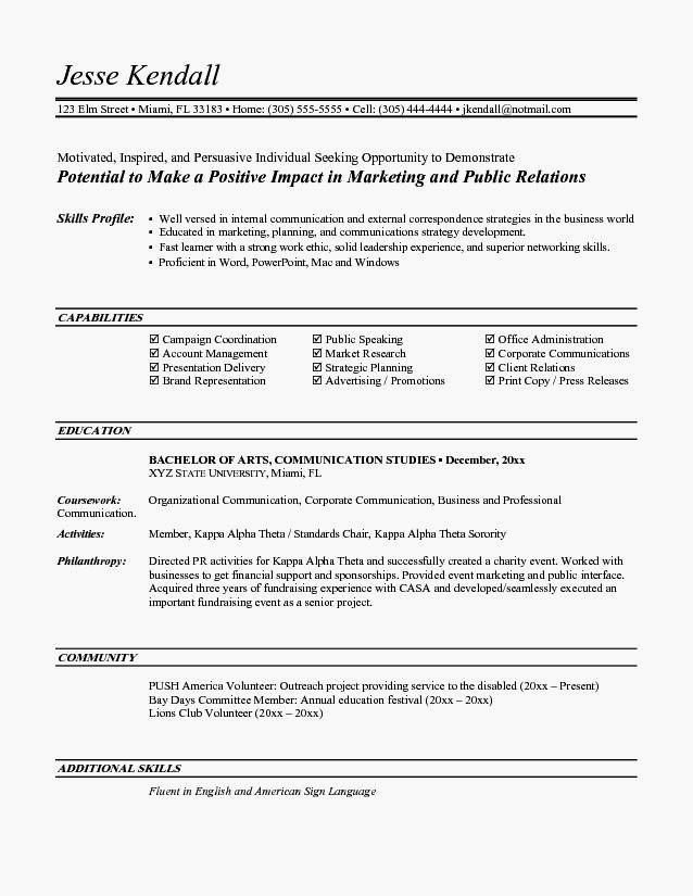 Entry Level It Resume with No Experience Elegant Entry Level Resume Ex Resume Template