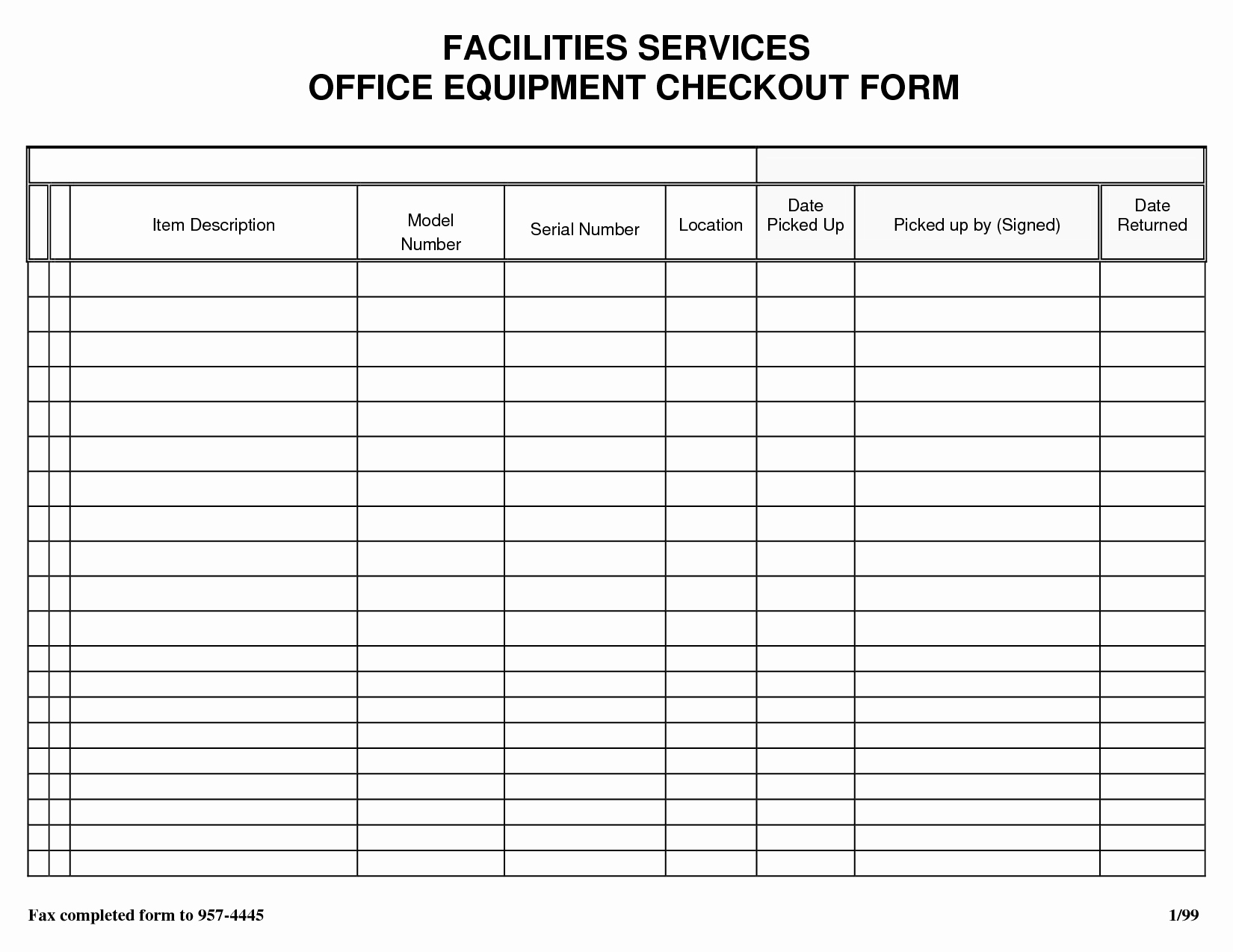 Equipment Checkout Log Inspirational Best S Of Technology Check Out form Equipment Check