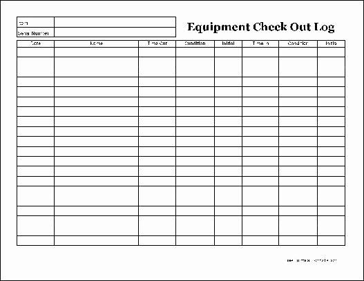 F683 Easy Copy Detailed Equipment Check Out Wide