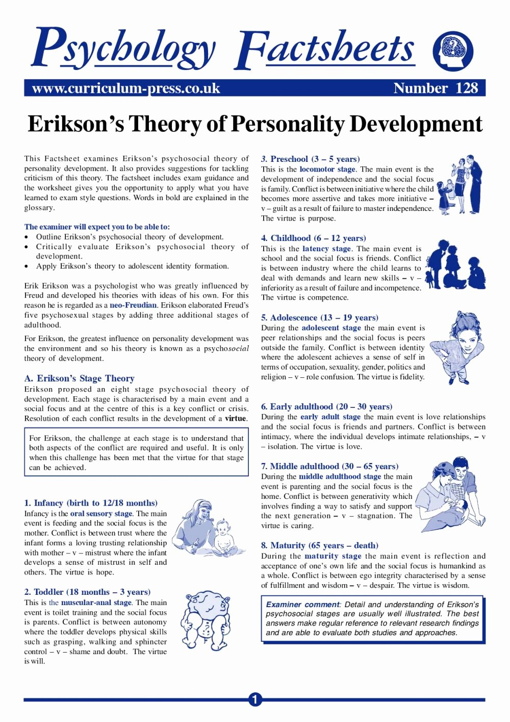 Erikson Stages Of Development Chart Pdf New Curriculum Press Erikson's theory Of Personality Development