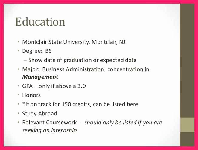 Estimated Graduation Date On Resume Luxury Resume Expected Graduation