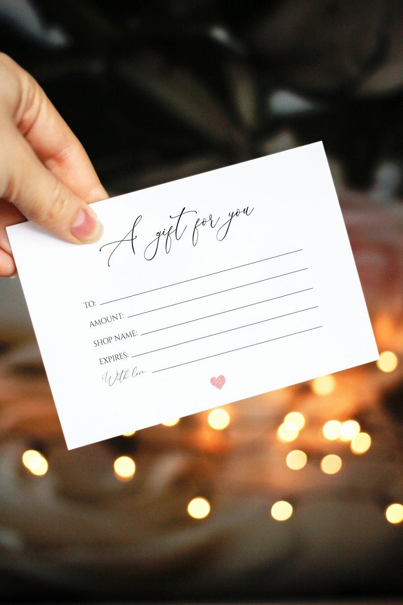 Etsy Gift Certificate Template Awesome Gift Certificate Etsy