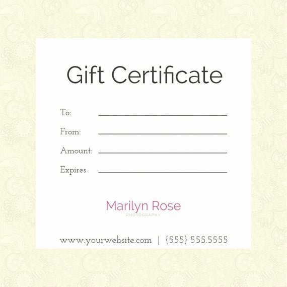 Etsy Gift Certificate Template Beautiful Items Similar to Modern Gift Certificate Template