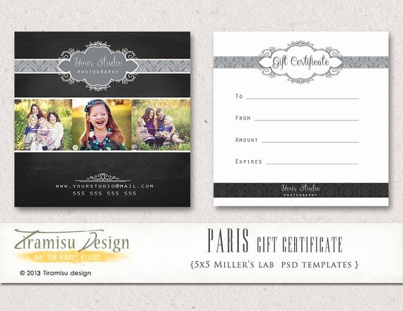 Etsy Gift Certificate Template Best Of Items Similar to Graphy Gift Certificate Photoshop