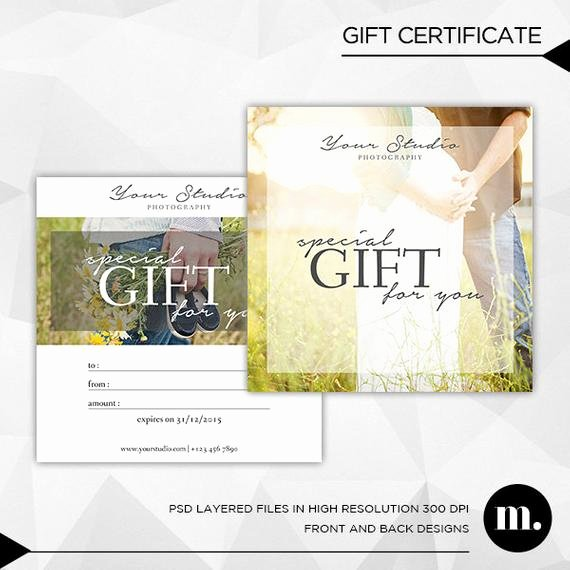 Etsy Gift Certificate Template Fresh Graphy Gift Certificate Template for by Mioradesign