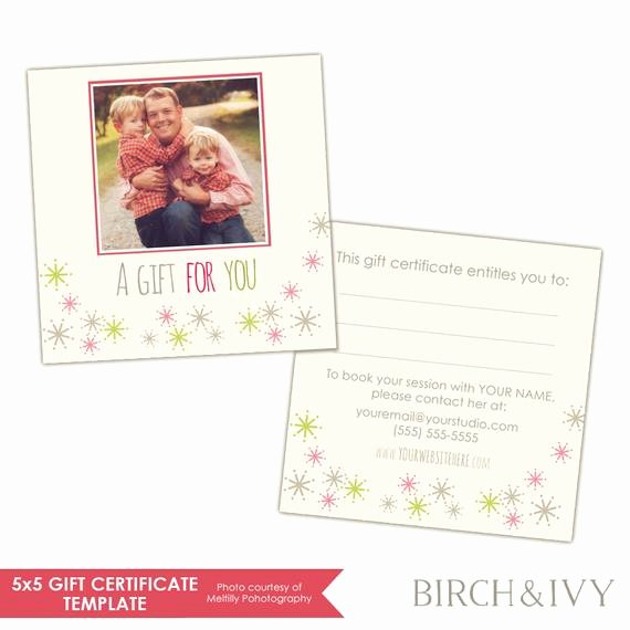 Etsy Gift Certificate Template Lovely Items Similar to Graphy Gift Certificate Template
