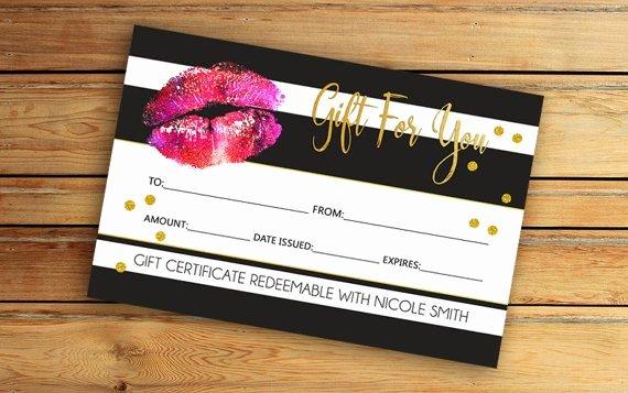 Etsy Gift Certificate Template Luxury Lipsense Gift Certificate Senegence by Vickydigital On