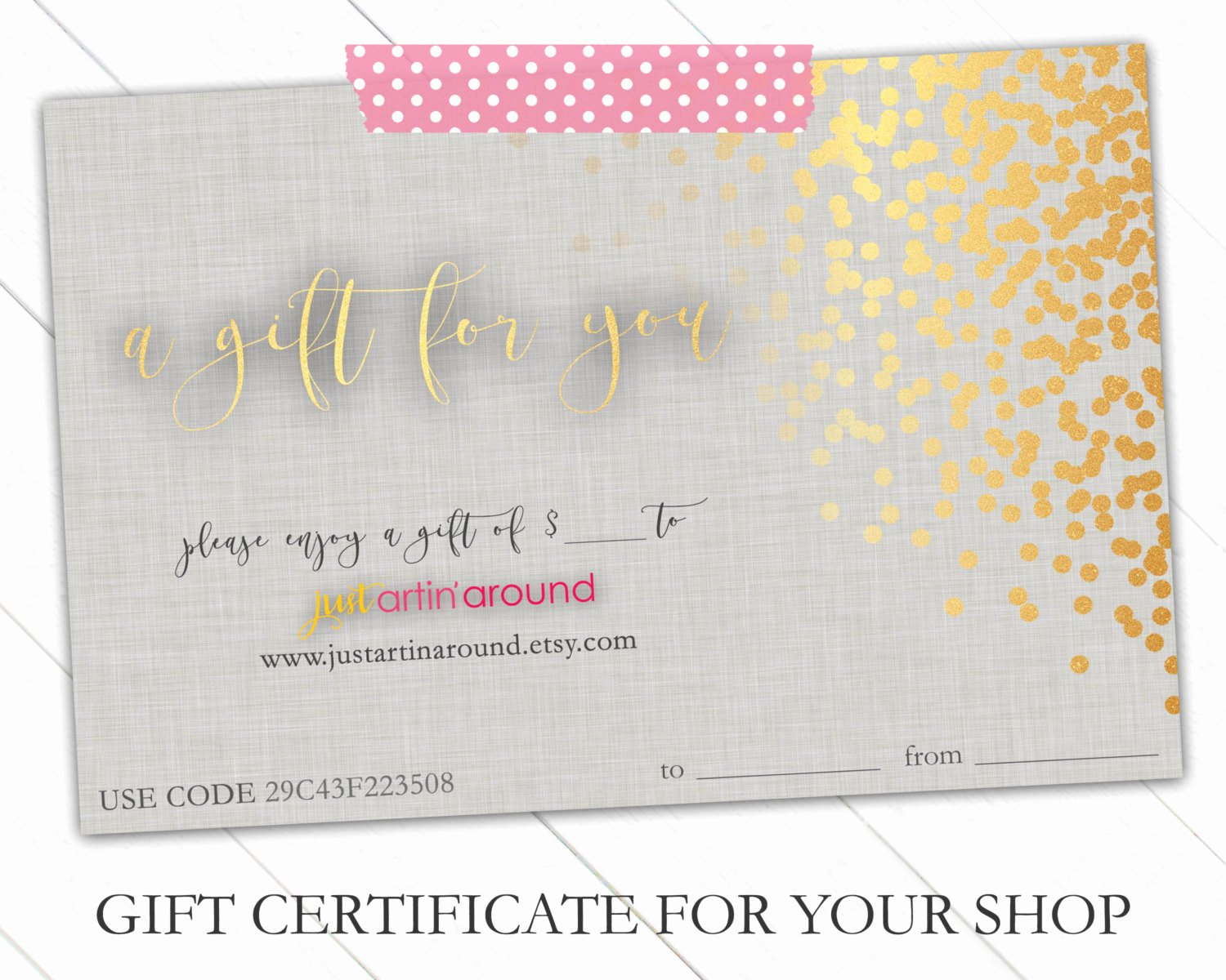 Etsy Gift Certificate Template New Gift Certificate Bundle Gift Certificate Template Gift
