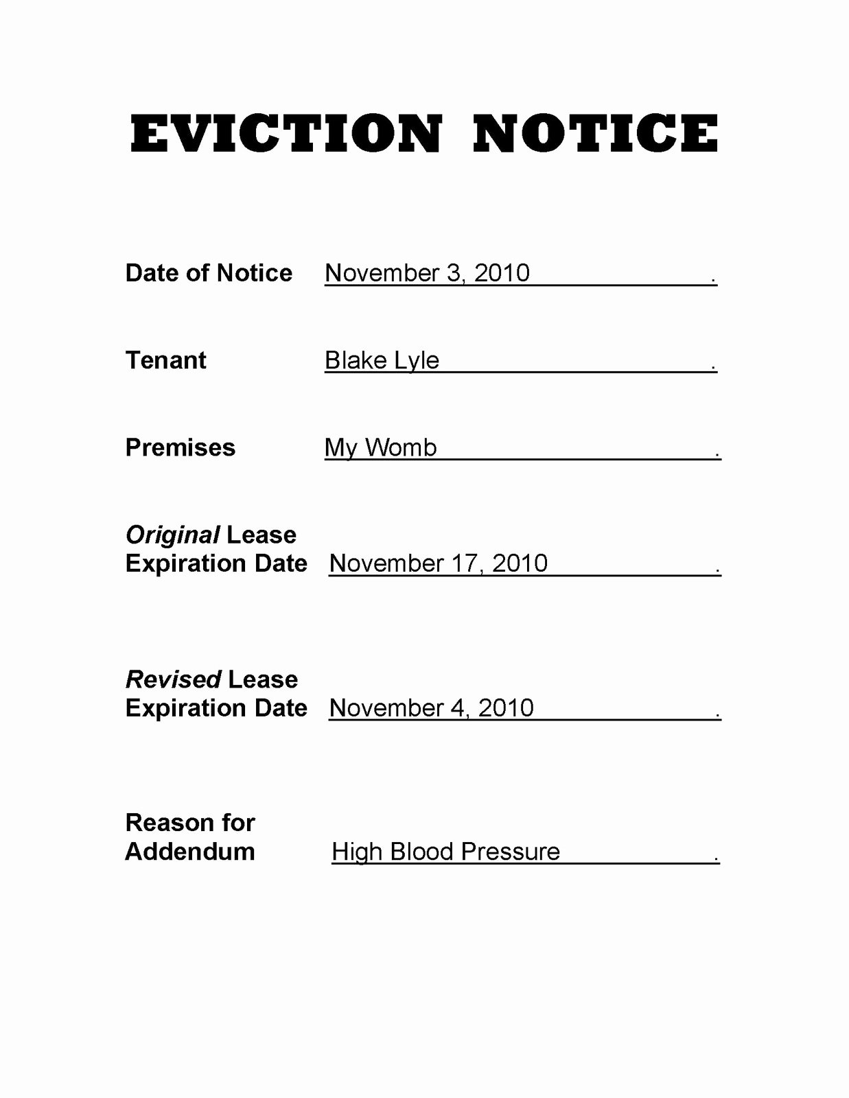 Eviction Notice Pa Template Awesome Does This Count as A Baby Book E Hundred Three It S