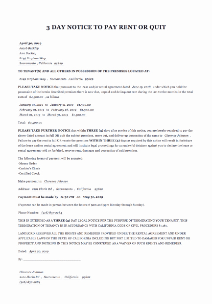 Eviction Notice Pa Template Awesome Eviction Notice form