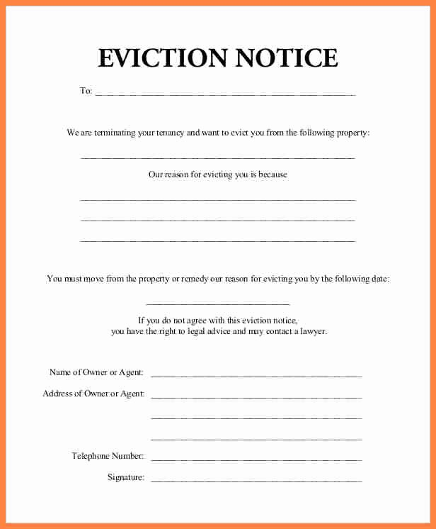 Eviction Notice Pa Template Inspirational 7 Rent Eviction Notice Sample