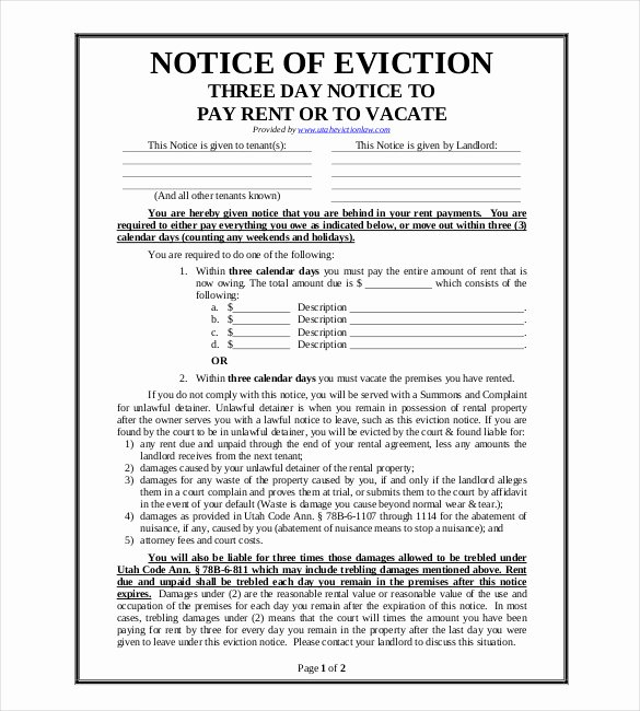 Eviction Notice Pa Template Luxury 13 Blank Eviction Notice Templates Free Download