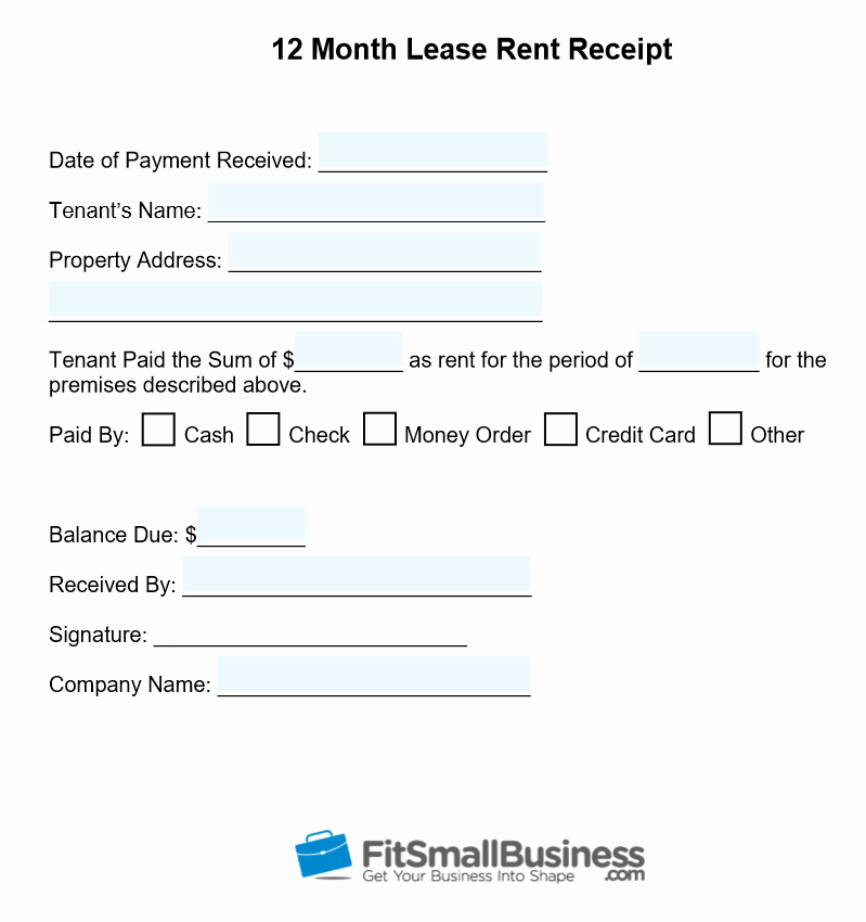Example Of A Receipt for Payment Fresh Free Printable Rent Receipt Template Download