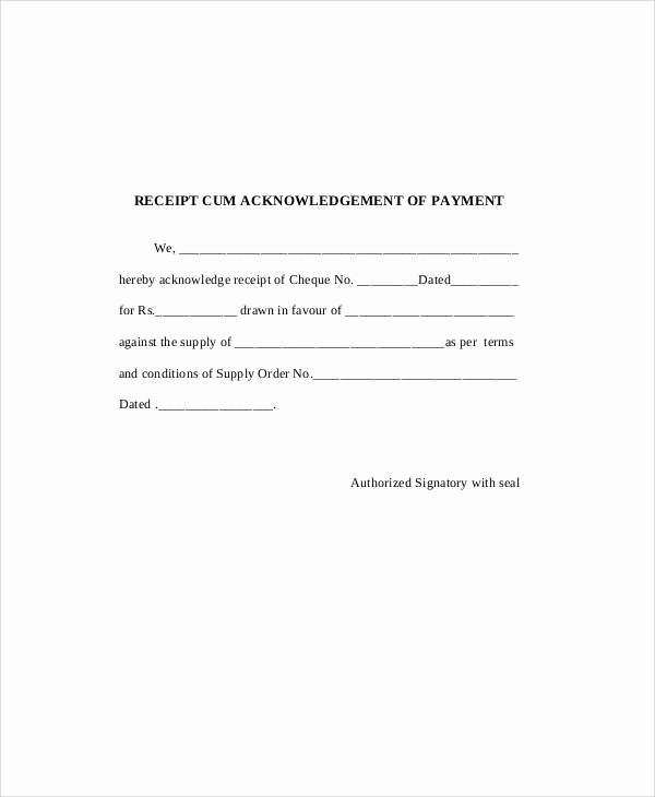 Example Of A Receipt for Payment Fresh Payment Receipt Example 7 Examples In Word Pdf