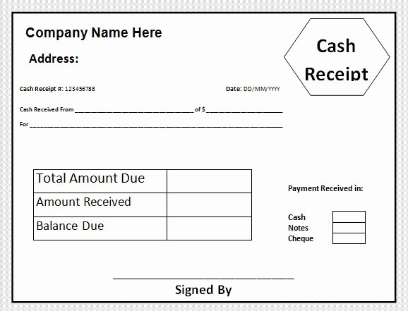 Example Of A Receipt for Payment Lovely Free 30 Cash Receipt Templates In Google Docs