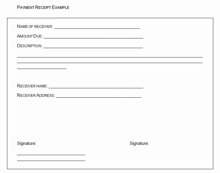Example Of A Receipt for Payment Lovely the Proper Receipt format for Payment Received and General