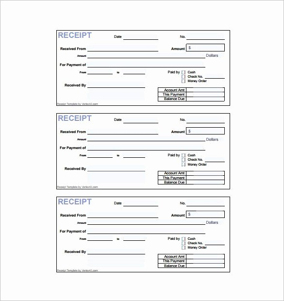 Example Of A Receipt for Payment New 8 Invoice Receipt Templates Doc Pdf