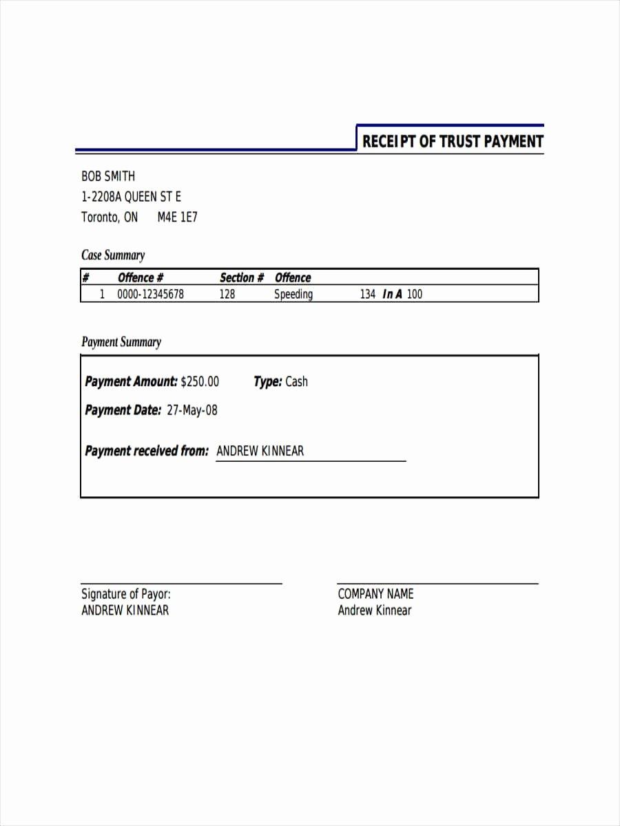 receipt in pdf