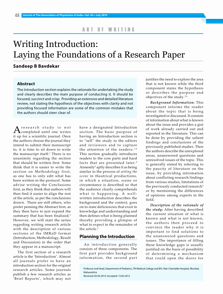 Example Of Introduction In Research Paper Pdf Elegant Pdf Writing Introduction Laying the Foundations Of A
