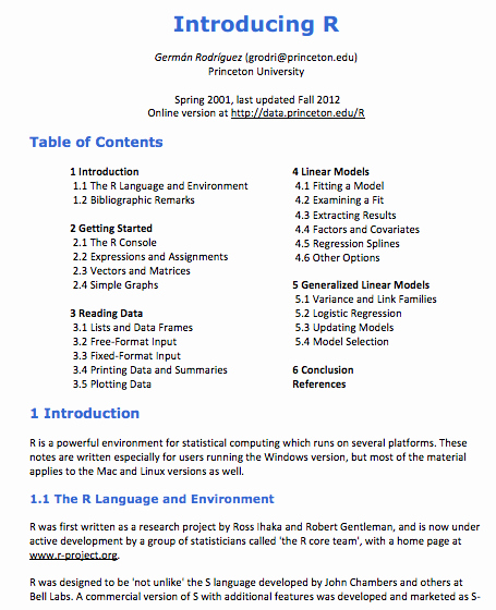 Example Of Introduction In Research Paper Pdf Luxury Princeton S Guide to Linear Modeling and Logistic