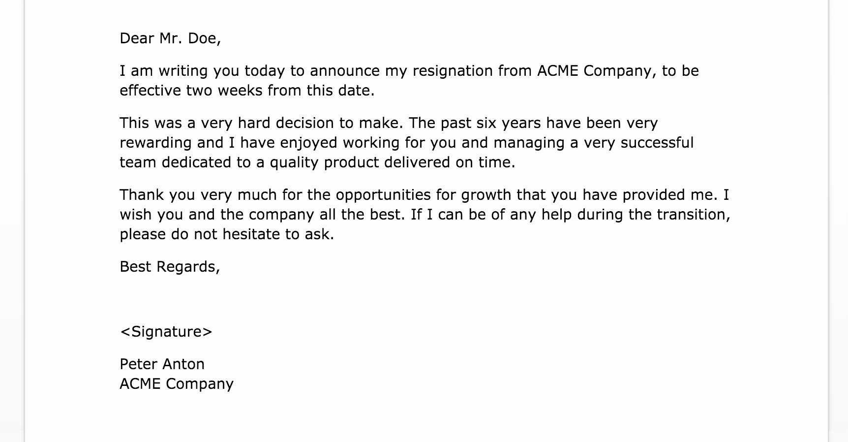 Example Of Notice Luxury 2 Weeks Notice Letter Of Resignation Fppt